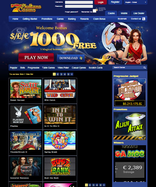 7 Sultans Casino Review and Rating