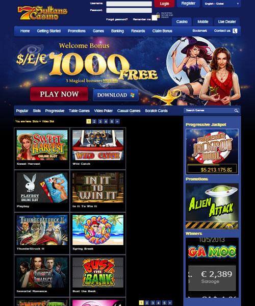 7 sultans casino no deposit bonus codes 2013