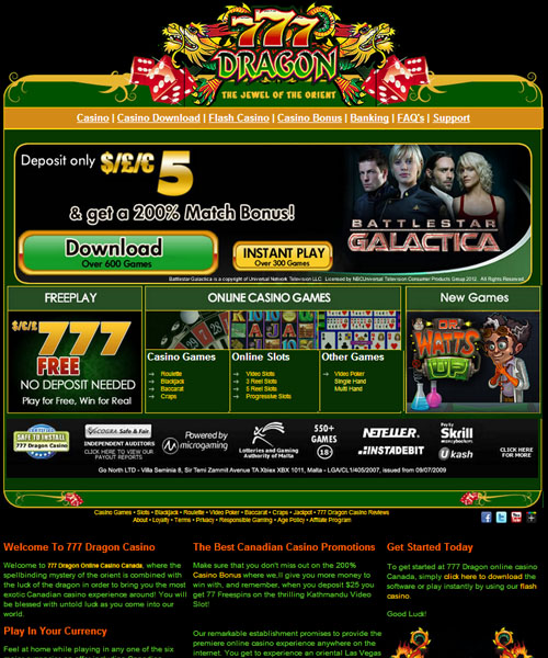 777 dragon casino online