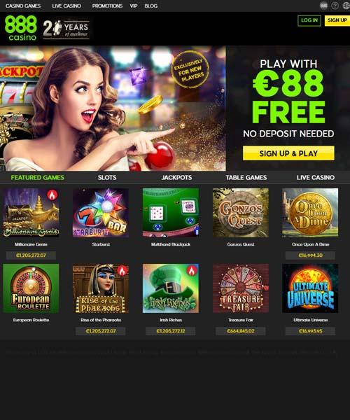 Актуальные бонусы казино 888 на официальном сайте