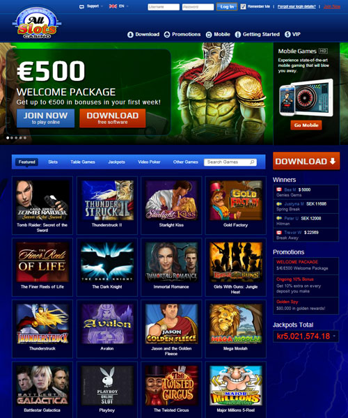 All Slots Casino Overview