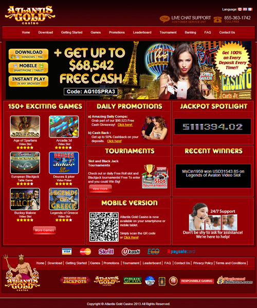 Atlantis gold online casino no deposit bonus codes online gambling nj