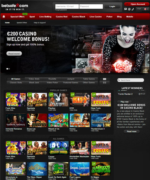 Betsafe Casino Red