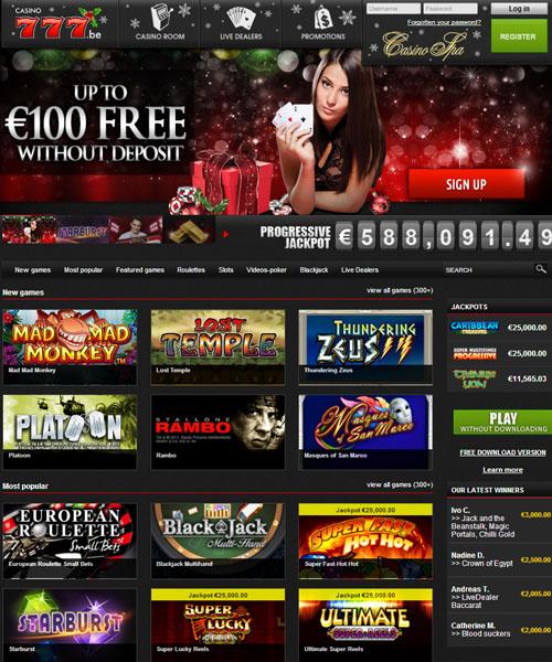 casino 777 bonuscode