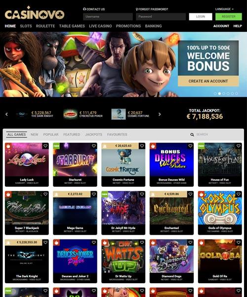 casinovo casino no deposit bonus codes