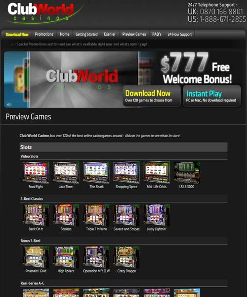club world casino nd codes