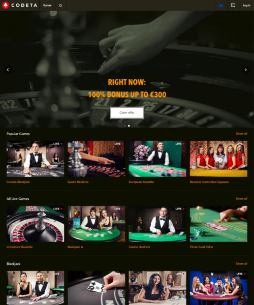 Codeta Casino is an online betting site that was established in and is operated by EveryMatrix. The casino has a live dealer first look and feel to it, but manages to also pack in a large number of standard casino games as well. That, combined with fast payout times and an excellent reputation make Codeta Casino a site well worth playing at.