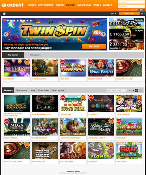 expekt.com casino bonus code