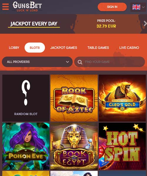 Gunsbet Casino Overview