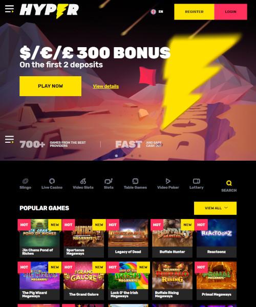 Hyper Casino Bonus Codes 2021