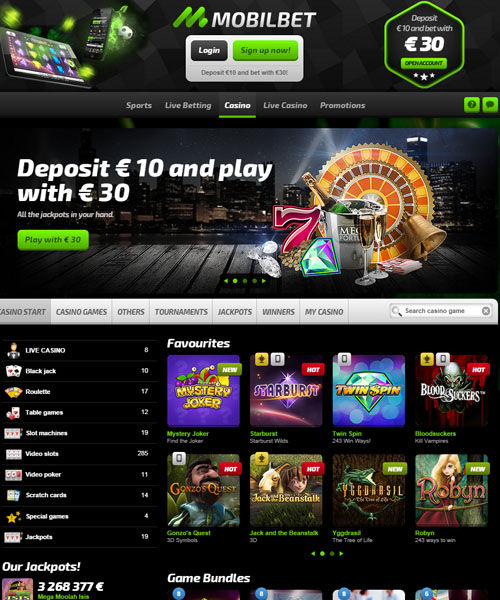 Mobilebet Casino Overview