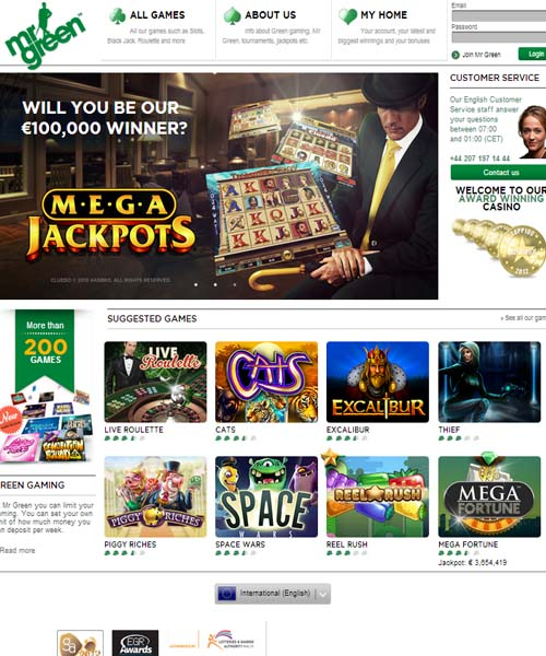 Mr Green Casino Overview