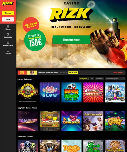 Rizk Bonus - The Captains Online Casino Cashback Bonus