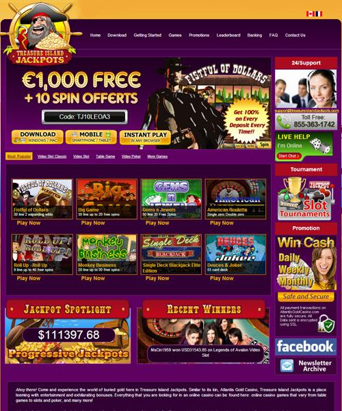 Treasure Island Jackpots Casino Review