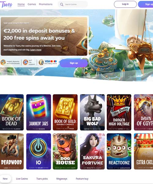 Tsars Casino Overview
