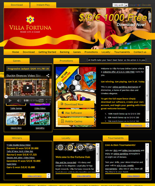 villa fortuna casino no deposit bonus codes