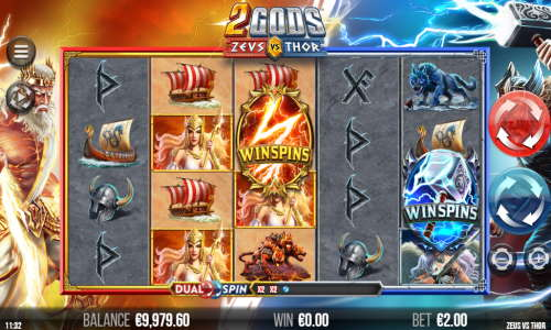 2 Gods Zeus vs Thor Videoslot Screenshot