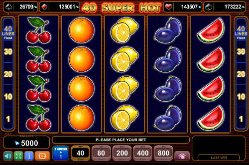 online play casino sizzling hot game