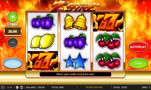 7s On Fire Videoslot Screenshot