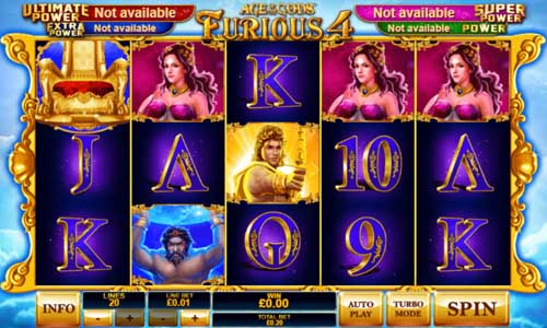 Age of the Gods Furious 4 slot