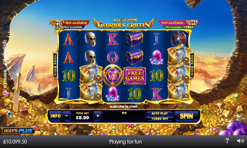 Age of the Gods Glorious Griffin slot