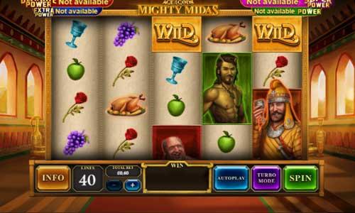 Age of the Gods Mighty Midas Videoslot Screenshot