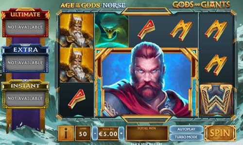 Age of the Gods Norse Gods and Giants Videoslot Screenshot