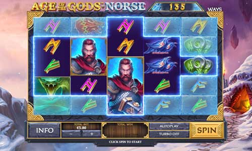 Age of the Gods Norse Ways of Thunder Videoslot Screenshot