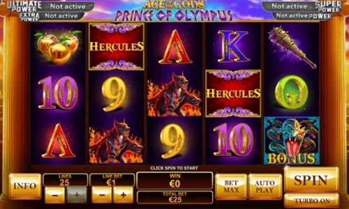 Age of the Gods Prince of Olympus Videoslot Screenshot