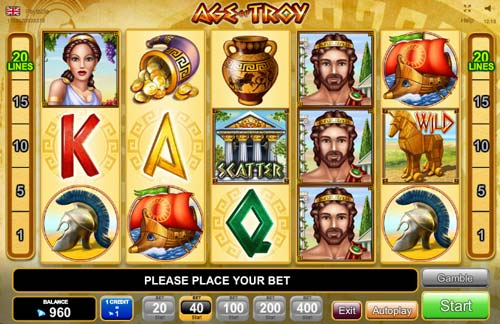 Age of Troy slot free play demo