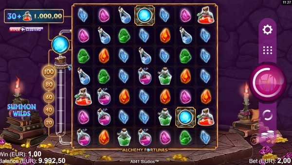 Alchemy Fortunes Videoslot Screenshot
