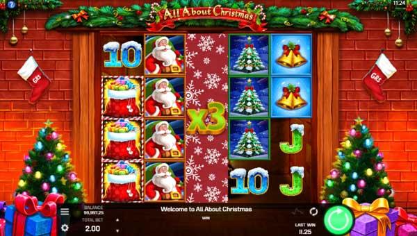 All About Christmas Videoslot Screenshot