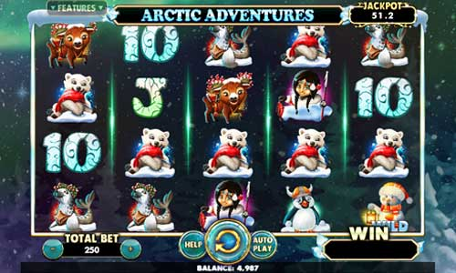Arctic Adventures Videoslot Screenshot