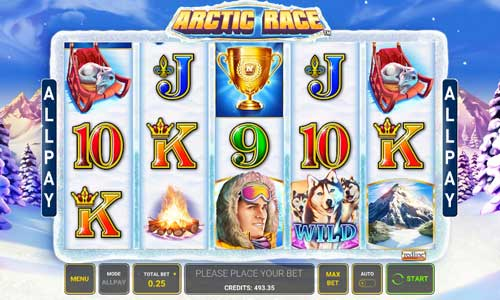 Arctic Race Videoslot Screenshot