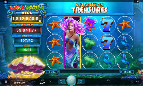 Atlantean Treasures Mega Moolah slot