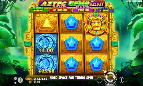 Aztec Gems Deluxe Videoslot Screenshot