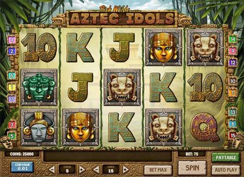 Aztec Idols slot free play demo