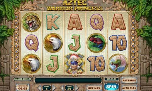 Aztec Warrior Princess Videoslot Screenshot