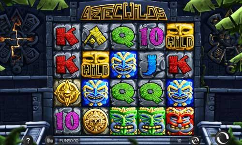 Aztec Wilds Videoslot Screenshot