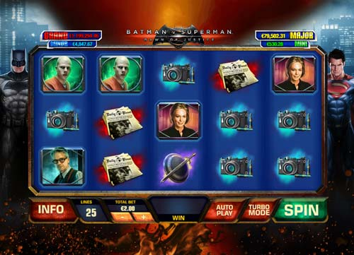 Batman vs Superman Dawn of Justice slot
