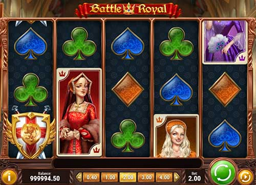 Battle Royal Videoslot Screenshot