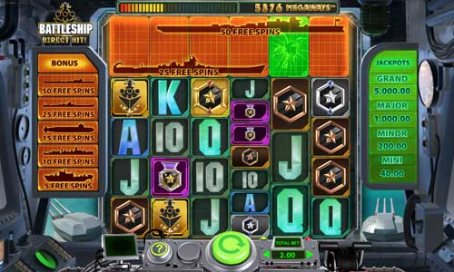 Battleship Direct Hit slot