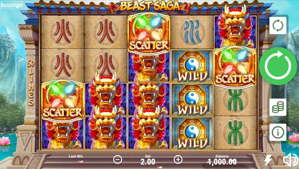 Beast Saga Videoslot Screenshot