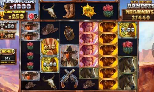 Big Bucks Bandits Megaways Videoslot Screenshot