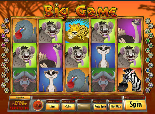 Big Game slot free play demo