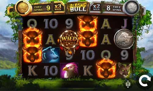 Blazing Bull Videoslot Screenshot