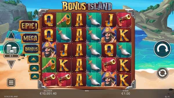 Bonus Island Videoslot Screenshot