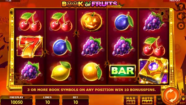 Book of Fruits Halloween slot free play demo