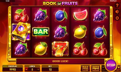 Book of Fruits Videoslot Screenshot