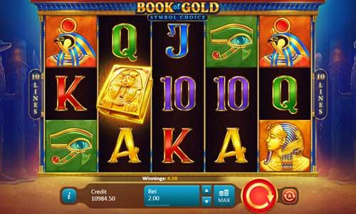 Book of Gold Symbol Choice Videoslot Screenshot